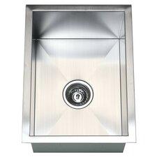 """15"""" x 20"""" Single Bowl Undermount Kitchen Sink"""