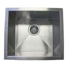 """17"""" x 15"""" Single Bowl Undermount Kitchen Sink"""