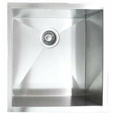 """19"""" x 20"""" Single Bowl Undermount Kitchen Sink"""