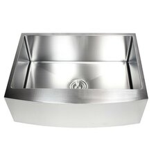 "Ariel 30"" x 21"" Stainless Steel Farmhouse Kitchen Sink"