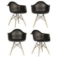 Mid Century Modern Scandinavian Arm Chair (Set of 4)