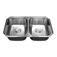 """Ariel Pearl 32.25"""" x 18.5"""" Double Bowl Kitchen Sink"""