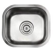 "Ariel Pearl 13"" L x 15"" W Stainless Steel Undermount Single Bowl Kitchen / Bar / Prep Sink"