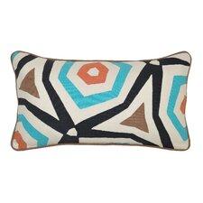 Abasi Applique Cotton Throw Pillow