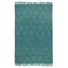 Amelia Overdyed Teal Indoor/Outdoor Area Rug