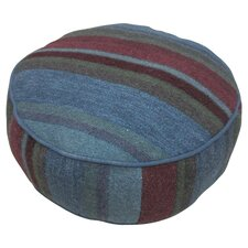 Maya Round Pouf in Blue