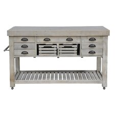 Linley Kitchen Island with Blue Stone Top