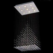 Rain Drop 9 Light Crystal Chandelier