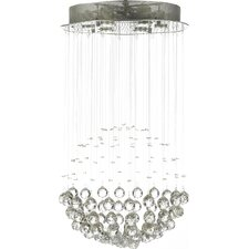 6 Light Rain Drop Crystal Chandelier