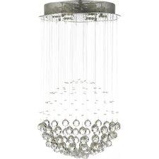 6 Light Rain Drop Crystal Chandelier