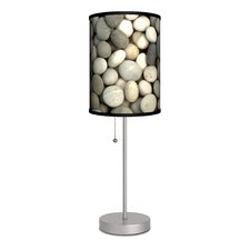 """Decor Art Stones 20"""" H Table Lamp with Drum Shade"""