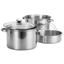 4 Piece Stainless Steel Pasta Cooker & Steamer