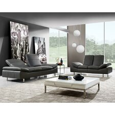 York 2 Piece Leather Living Room Set