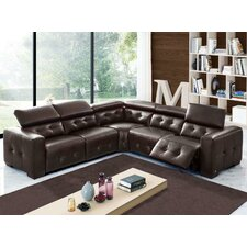 Riley Leather Sectional with 2 Power Recliners
