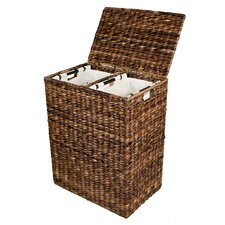 Abaca Divided Laundry Hamper