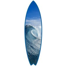 Blue Perfection on Surfboard Shape Photographic Prints Wall Decal