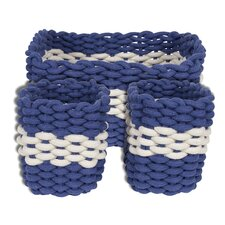 3 Piece Rope Basket Set