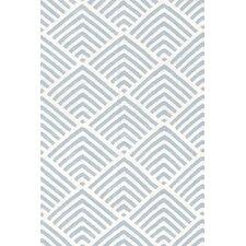 Cleo Blue & White Graphic Indoor/Outdoor Area Rug