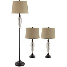 Burleigh 3 Piece Table Lamp Set with Empire Shade