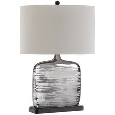 Textured Table Lamp with Oval Shade