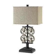 "Liam 28"" H Table Lamp with Rectangular Shade"