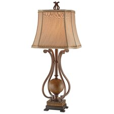 "Scroll 34.25"" H Table Lamp with Bell Shade"