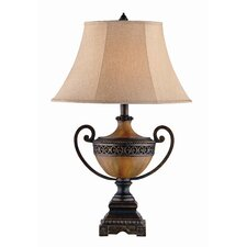 "Burnished Urn 32.5"" H Table Lamp with Bell Shade"