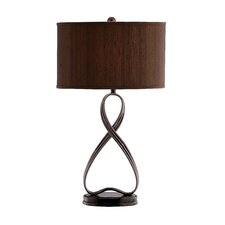 "Lazy 31"" H Table Lamp with Drum Shade"