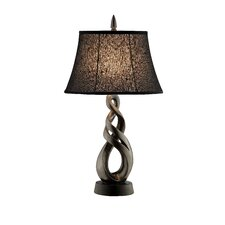 "Free Formed Sculptural 29"" H Table Lamp with Bell Shade"