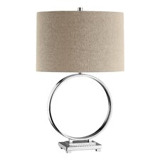 "Opulence O' 27.75"" H Table Lamp with Drum Shade"