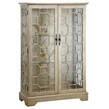 Cosmopolitan Metallic Curio Cabinet