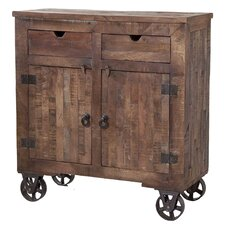 Cordelia Rolling 2 Drawer Cabinet