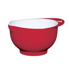 Colourworks Large Red Melamine Two Tone Mixing Bowl