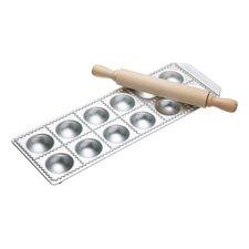 2 Piece 12 Hole Ravioli Tray and Rolling Pin Set