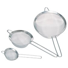 Stainless Steel 3 Piece Fine Mesh Round Sieves Set
