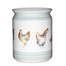 Hen House Ceramic Utensil Jar