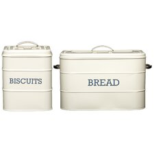 Living Nostalgia 2-Piece Biscuit and Bread Storage Set