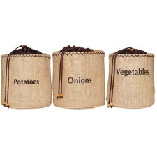 Natural Elements 3-Piece Vegetable Storage Sacks Set