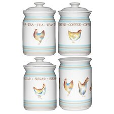 Hen House 4-Piece Storage Jar Set