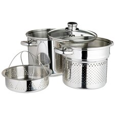 Italian 4 Piece Pasta Pot with Strainer Inserts and Lid