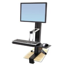 WorkFit-S Sit-Stand Height Adjustable Workstation/Cart