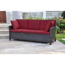 Valencia Wicker Resin Sofa with Cushions