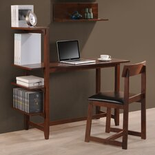 "Washington 47"" Writing Desk with Side Shelf and Chair"