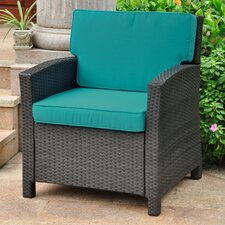 Valencia Wicker Resin Contemporary Patio Chair with Cushion