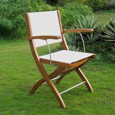 Sabbattus Folding Dining Arm Chair (Set of 2)