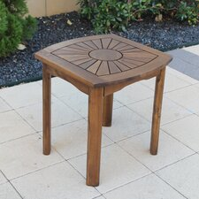 Highland Acacia Sunburst Patio Side Table