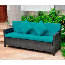 Valencia Wicker Resin Sofa with Cushion
