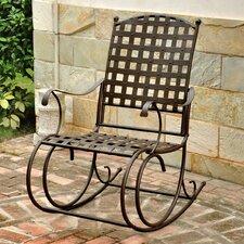 Santa Fe Nailhead Iron Patio Rocking Chair