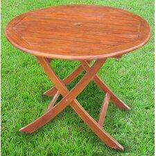 """Acacia Patio 38"""" Round Folding Dining Table"""