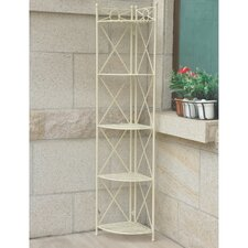 St. Lucia 5-Tier Iron Folding Bakers Rack